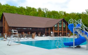 Decorative Photo of Treasure Lake's Outdoor Pool at Lakeview Lodge - Located near DuBois, PA