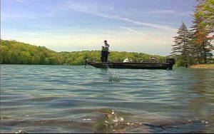 Decorative Photo showing Fishing at Treasure Lake near DuBois, PA.