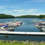Decorative Photo showing Treasure Lake's Marina, near DuBois, PA.