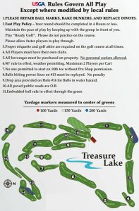 Map of Silver Golf Course in Treasure Lake, PA