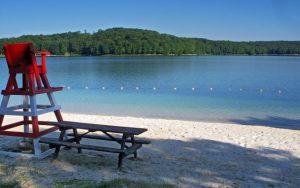 Decorative Photo showing a Treasure Lake Beach, near DuBois, PA.