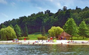 Decorative Photo showing a Treasure Lake Beach, near DuBois, PA.