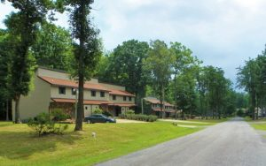 Decorative Photo Showing Crown Resort Condos, located with Treasure Lake, near DuBois, PA.