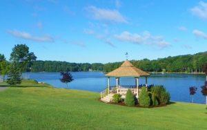 Decorative Photo Showing the Gazebo at Treasure Lake, located near DuBois, PA.
