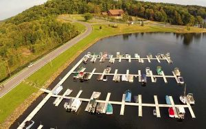 Decorative Photo showing Treasure Lake's Marina, near DuBois, PA.
