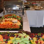 Decorative Photo Showing a Dinner Buffet in Treasure Lake located near DuBois, PA. Lakeview Lodge. This is a great Venue for Lakefront Weddings.