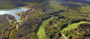 Decorative Aerial Photo of Treasure Lake