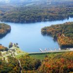 Decorative Photo showing Aerial View of Treasure Lake, near DuBois, PA.