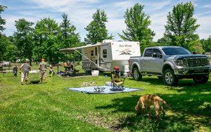 Decorative Photo Showing DuBois Treasure Lake KOA Campsite, located with Treasure Lake, near DuBois, PA.