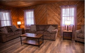 Decorative Photo Showing DuBois Treasure Lake KOA Family Cabin, located with Treasure Lake, near DuBois, PA.