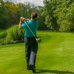 Golfer at Gold Golf Course
