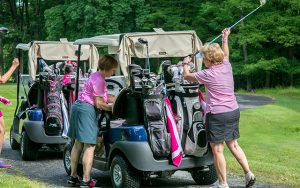 Decorative Photo Showing golfers at a Benefit Golf Outing at Treasure Lake, located near DuBois, PA.