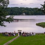 Decorative Photo showing Lakeview Lodge Ready for a Lakefront Wedding. Located in Treasure Lake, near DuBois, PA.