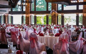 Decorative Photo showing Lakeview Lodge Ready for a Lakefront Wedding Reception. Located in Treasure Lake, near DuBois, PA.