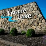 Decorative Photo of Treasure Lake's Entryway Sign