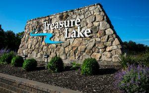 Decorative Photo of Treasure Lake's Entryway Sign