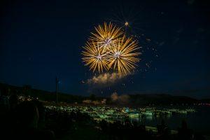 Fireworks over Treasure Lake