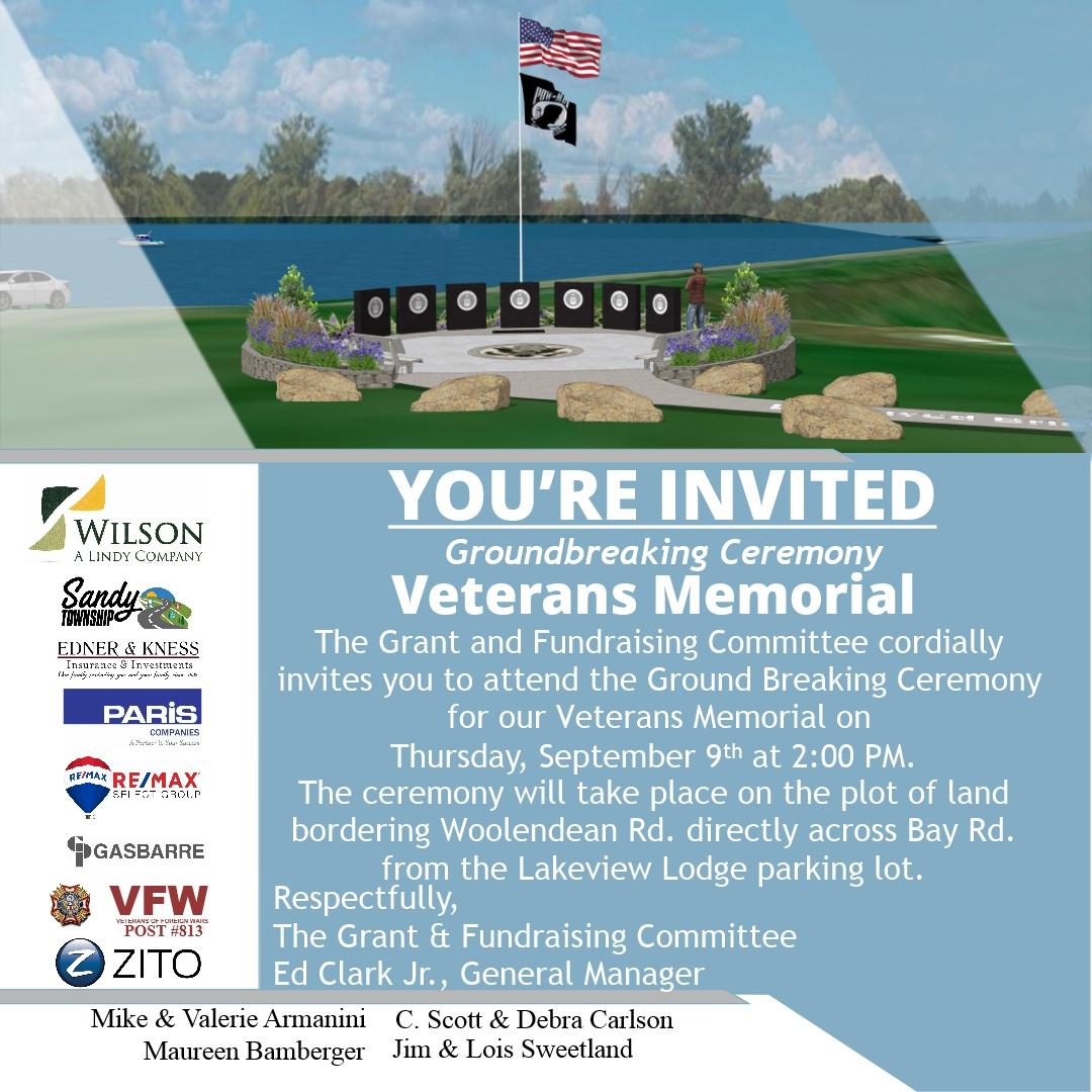 Veterans Memorial Groundbreaking Ceremony